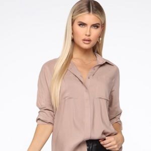 Fashion Nova Tops - Brand New Fashion Nova Taupe Tunic